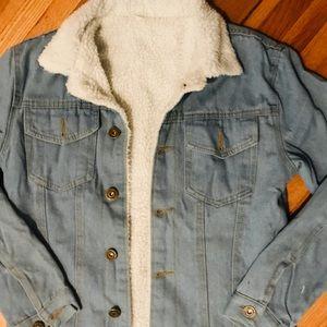 Jackets & Blazers - Sherpa Jean Jacket